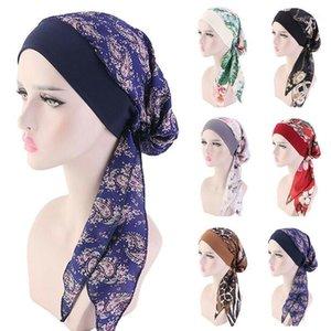 Шапочка / черепные колпачки женские выпадения волос шапка чехол из шансы черепные жемчуги жемчуга мусульманский рак химии исламская шляпа крышка головной шарф мода bonnet1