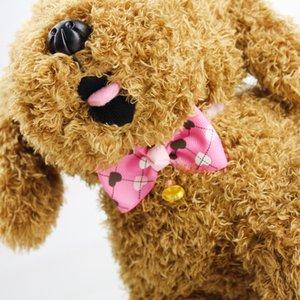 Liebevolle Herz Gitter Einstellbare Hund Katze Bogen Pet Zubehör Fliege Hund Katze Krawatte Bogen Zubehör Glocke Schmetterling Bowknot Krawatte Pet Halskette