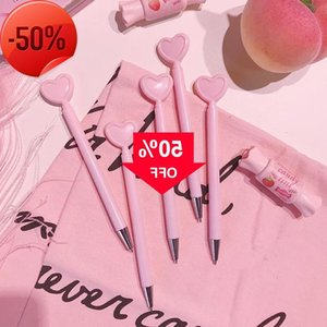 Creative heart-shaped girl pink love gel pen student office stationery black ins Props children gifts Magic 2 piece