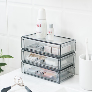 Acrylic Organizer Cosmetic Storage Box Drawer Make Up Organizer For Small Things Jewelry Containers For Desktop Dresser Bathroom Y1125