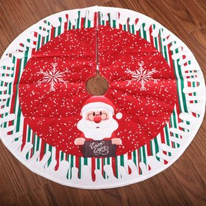 80CM Christmas Tree Skirt Carpet New Year Decorations Xmas Tree Decor Skirt Ornaments Festive Party Supplies Plaid