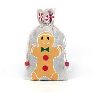Price de fábrica Drawstring presentes pendurando bolsa para santa christmas cláusula snowflake snowman xmas armazenamento aniversário p