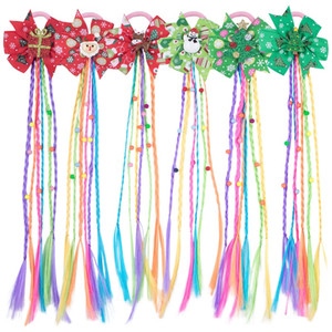 Christmas Butterfly Hair Accessories New Pattern Children Wigs Coiling Girl Ponytail Braid Headbands Party High Quality 2 8wj M2