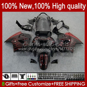 Body Kit For HONDA Interceptor red flames VFR800RR VFR 800RR 800 RR 99HC.67 new VFR800 98 99 00 01 VFR800R 1998 1999 2000 2001 Full Fairings