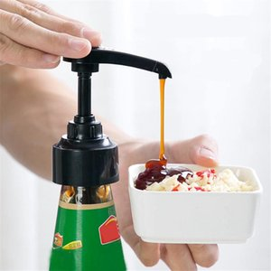 Syrup Bottle Nozzle Pressure Oil Sprayer Household Oyster Sauce Plastic Pump Push-type Tools Kitchen Accessories Supplies #J20