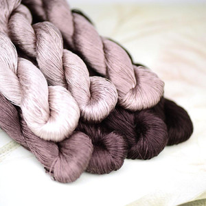 1pcs 400m silk embroidery thread   100% silk thread  hand embroidery embroider cross stitch Reddish brown series 7 pure colors