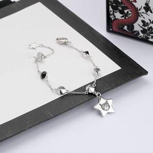 New Cute Letter Cat Bracelet for Woman Top Quality Silver Plated Bracelet Personality Charm Bracelet Fashion Jewelry Supply