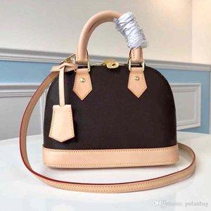 Alma Bb PM Shell Tasche Frauen Echtes Leder Handtaschen Blume Geprägte Umhängetaschen mit Lock Designer Handtaschen Crossbody Bag