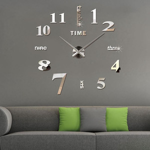 Oversized Personality Creative Acrylic Fashion Simple Wall Clock DIY Wall Clock Mirror Sticker