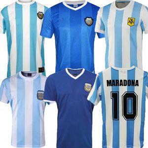 1985 1986 2014 Argentina Champions Retro Soccer Jerseys Maradona Edición Especial CANIGGIA 1978 1996 Camisa de Fútbol Batistuta 1998 2006 1994