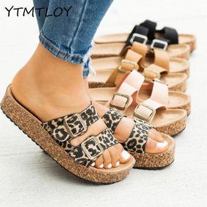 YTMTLOY Mujeres de doble capa Sandalias de hebilla fuera de las zapatillas de playa salvajes Ladies Ocio Flip Flop Floop Shoes Mujer1