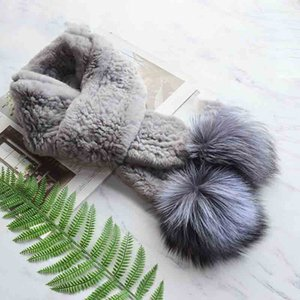 women real fur winter warm scarf ring 2020 brand new genuine silver fur ball scarves rings