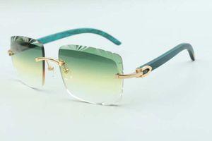 2021 최신 스타일 베스트셀러 직접 판매 고품질 절단 렌즈 선글라스 3524020, 청록색 나무 사원 안경, 크기 : 58-18-135mm