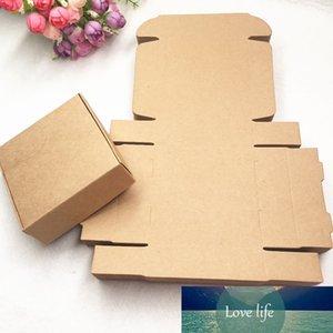30 adet / grup Kraft Kağıt Hediye Pasak Kutusu, Kraft Kağıt Hediye Düğün Şeker Craft Kağıt Küçük Oyuncak, El Yapımı Sabun B