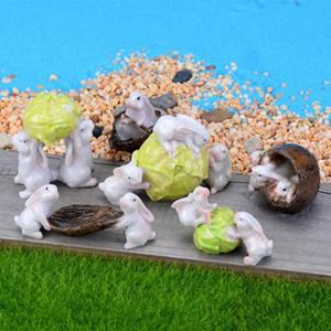 1pc Boat Cabbage Figures Miniature Figurine mini fairy garden Micro Landscape Cartoon animal statue resin craft