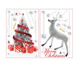 Santa Claus Sticker Wall Sticker Snowflake Elk Snowman Child Shop Window Glass Scene Arrangement Christmas Stickers