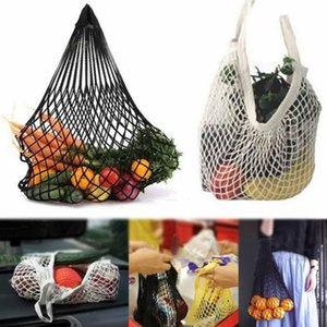 New Mesh Shopping Bag Reusable String Fruit Storage Handbag Totes Women Shopping Mesh Net Woven Bag Shop Grocery Tote Bag Food GWC3784