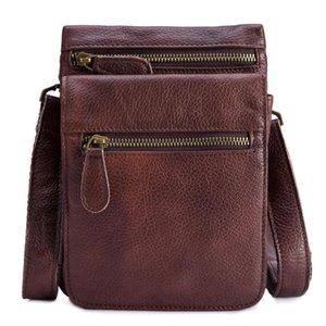 Designer-Genuine Leather waist belt Men Multifunction bags male Crossbody Messenger Shoulder handbag mobile card travel Case gift