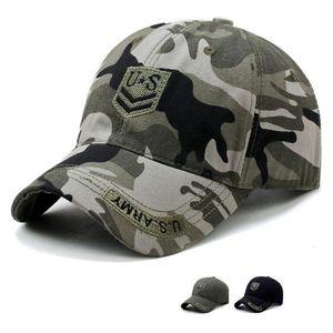 미 육군 팬 스냅 백 태양 등산 모자 전술 위장 모자 야외 스포츠 카모 야구 모자 CYZ2946