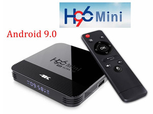 H96 Mini H8 Android 9.0 Smart TV Box 1 ГБ 8 ГБ 2.4G / 5G Wi-Fi 4K Media Player BT4.0 Установите верхний ящик