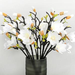 1pcs 53cm Accueil Décoration Fake Flower Magnolia Decor De Mariage Végéche en pot Ornements Fleur artificielle Magnolia Bouquet1