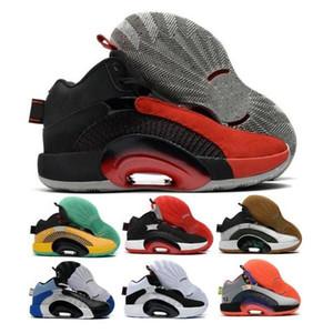 Jumpman 35 35s Fragment Erkek Basketbol Ayakkabı Ağırlık Merkezi Döşeli Hanedanlar Guo Ailun Morpho Savaşçı Kardeşlik Bred DNA Tenis Tenis Sneakers