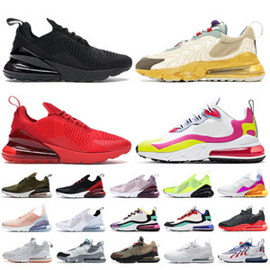 Nike Air Max 270 React Eng Travis Scott Top Fashion Herren Damen Laufschuhe Triple White Cactus Trails Blackened Blue Watermelon Aliens Trainer Turnschuhe