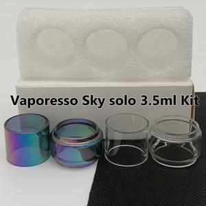 VaporSo Sky Solo 3.5 ml Kiti Normal 2 ml Ampul Tüp Temizle Gökkuşağı Yedek Cam Tüp Kabarcık Fatboy 3 adet / kutu Perakende Paketi