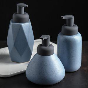 Bathroom shower bottle, toilet, ceramic hand washing bottle, Nordic foam emulsion, press bottle accessories storage