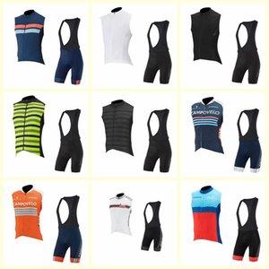 Capo Team Cycling Sans manches Jersey Gilet Bord Shorts Ensembles Été Men 3D Gel Pad Vêtements de vélo respirants Vêtements de sport U81631