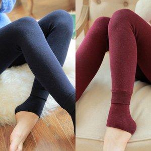 ZJX Inverno Leggings Donne Inverno Pantaloni caldi di inverno vita alta dimagrante addensare addensare ad alta elastica Leggings caldo di velluto da donna Q1224