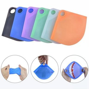 Silicone Mask Case Portable Storage Box Dustproof Cover Holder Case Storage Reusable Fold Face Mask Bag Organizers DDA821