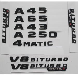 Gloss Black For Mercedes Benz W176 W177 A45 A200 A220 A250 AMG 4MATIC V8 BITURBO 4MATIC+ Trunk Rear Star Emblems Badges Emblem