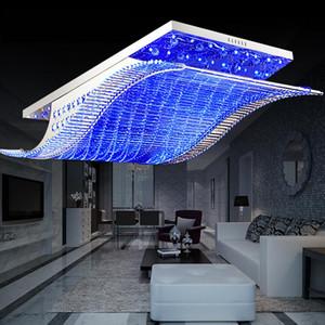 Chandelier de cristal moderno Cambio de color LED con control remoto Estilo de órganos de órgano RGB Lámpara de techo Lámpara de techo Deco Chandeliers 11