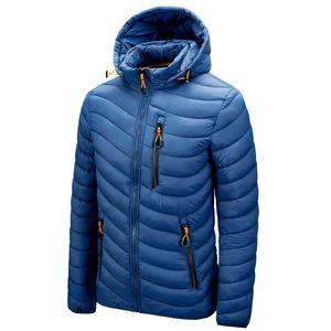 Winter Jacket Men Fashion Hooded Male Parka Jacket Mens Solid Thick Jackets and Coats Man Winter Hoodies Coats 201130