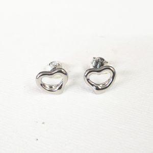 Boucle d'oreille plaquée d'argent en forme de coeur dans style classique dames boucles d'oreilles bijoux cadeaux de vacances LJ201013