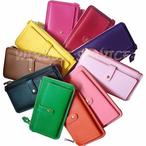 HOT selling fashion 11 assorted colors lady purses and wallets with wrist strap design (WX03)
