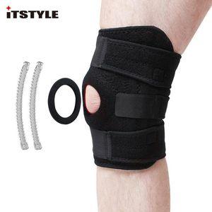 ITStyle 4 Support du genou en acier à ressort Renforcer Protecteur de genou à genouillère respirant