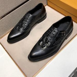 2020 뜨거운 판매 클래식 시리즈 남성 정식 비즈니스 캐주얼 가죽 신발, 선택된 소 가죽 직물, 고품질 공식 신발 제조