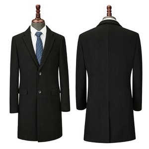 estate bank winter long coat men's 4S shopping guide hotel front desk goods professional woolen overcoat work clothes