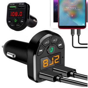 FM Adapter Bluetooth Car Charger FM Transmitter with Dual USB Adapter Handfree MP3 Player Support TF Card for iPhone Samsung Universa DHL