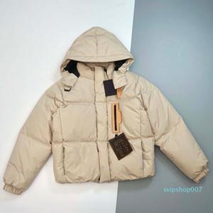 Women Designer Parkas Top Quality Women Hooded Winter Warm Coat Fashion Women Jacket Black Beige Color with Labels Size 44 46 48 50