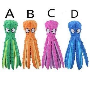 الساقين 4 ألوان محشوة الأخطبوط الناعمة أفخم 8 لعبة عض الحيوانات الأليفة مع الصوت للكلب والقط عيد الميلاد netenciles