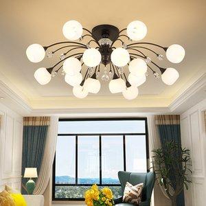 Nordic Minimalist led Ceiling Lamp Postmodern Living Room Bedroom Decoration Crystal Ceiling Light Creative Dining Room Retro Crystal Lamps