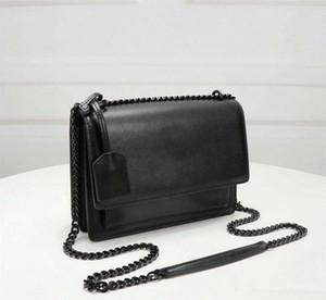 Tasarımcı Çanta Günbatımı Lüks Çanta Çantalar Kadın Çanta Deri Kaplı Anahtar RingLeather Omuz Çantaları Uzun Zincir Flap Çanta