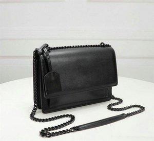 Klappen Geldbörsen Handtaschen Luxus mit Designer Cuvqx Taschen Frauen Tasche Lange Ringleder Handtaschen Taschen Lederbedeckt Kettenschlüssel Sunset Schulter VTOM