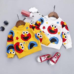Moda bebé jersey otoño dibujos animados patrón niños sudaderas sudaderas con capucha de primavera suave recién nacido para 9m-4t prendas de exterior para niños pequeños LJ201023