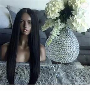 Silky Straight Full Lace Human Hair Wigs Straight Peruvian Full Lace Wig Glueless Lace Front Wig For Black Women