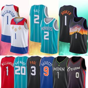 20 Gordon 2 Lamelo Hayward Ball Lillard Zion 9 RJ Williamson Barrett 0 Damian 1 Devin 3 Chris Booker Paul 2021 Jerseys de basquete