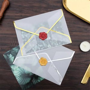 New White Translucen Envelopes Bronzing Wedding Invitation Card Sets Gift Wrapping Envelope Storage Gift Letter Paper Bag